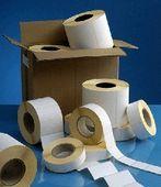 rouleau d'étiquettes adhesives