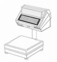 bobines rouleaux thermiques etiquettes pour balance Avery Berkel C19