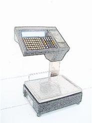 bobines rouleaux thermiques etiquettes pour balance Bizerba SW 800