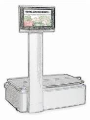 bobines rouleaux thermiques etiquettes pour balance Ishida Uni-7 Pole Type