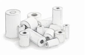 bobines rouleaux thermiques etiquettes pour balance Lutrana Bora